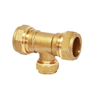 Copper Fittings Reducing Tee CxCxC (28mm x 22mm)
