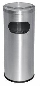 EH Stainless Steel Letter Bin c/w Ashtray