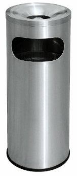 EH Stainless Steel Litter Bin c/w Ashtray Top