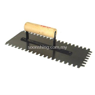 "Steel Plastering Trowel Coarse Teeth 4 1/2"" (W) x 11"" (L)"