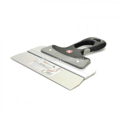 """Wellforce Stainless Steel Taping Knife 14"""" (350MM) with Thumb Hole"""