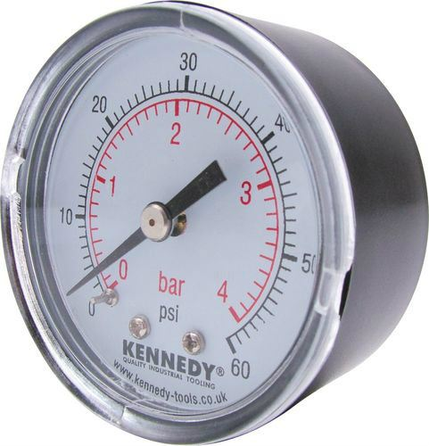 50mm DIA.x 0-4 BAR PRESSURE GAUGE Cromwell Tools