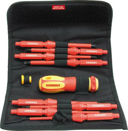 INSULATED INTERCHANGEABLE SCREWDRIVER SET 8-PCE Cromwell Tools