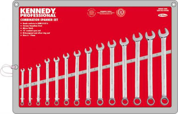 6-19mm PROFESSIONAL COMBWRENCH SET 14-PCE
