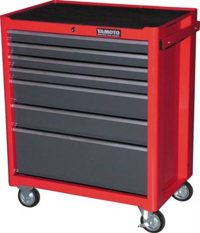 7 DRAWER ROLLER CABINET - RED