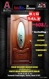 BIG SALE!! Solid decorative Classic Door - with temperate glass (DC 1H).