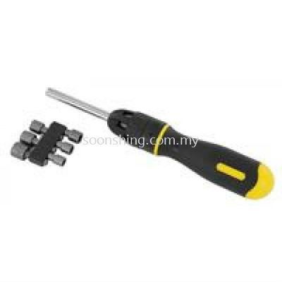 "Stanley 68-010 Multi-bit Ratcheting Screwdriver 254mm (10"")"