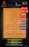 SOLID WOODEN MAIN DOOR.. include installation+varnishing+lockset.. only RM1288!!