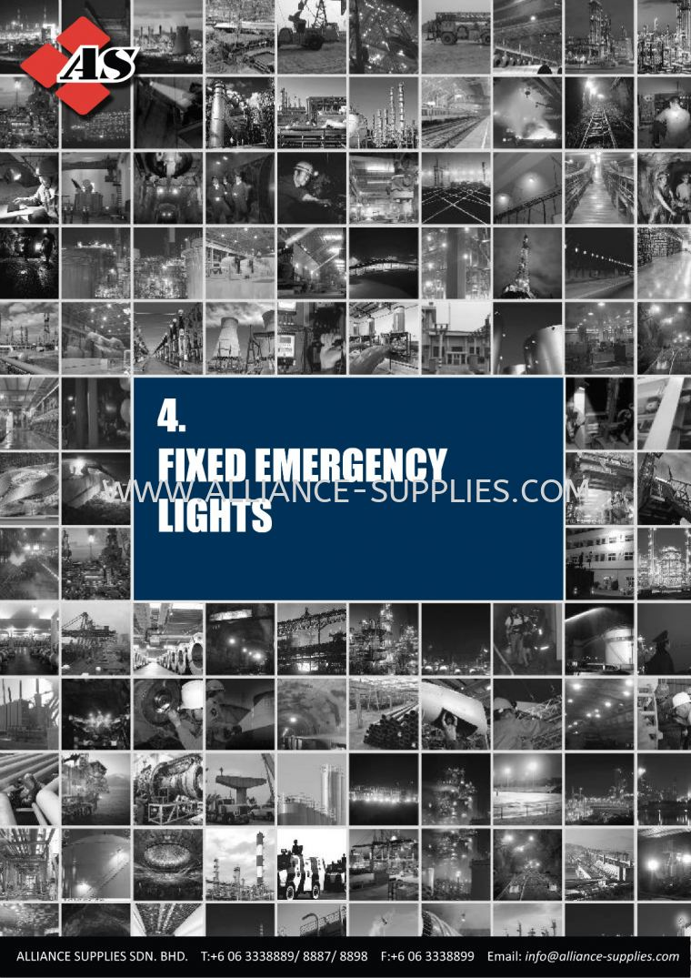 17.04 Fixed Emergency Lights       18.04 Fixed Emergency Lights 18.INDUSTRIAL LAMPS/ EXPLOSION-PROOF LIGHTING