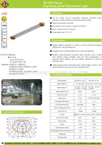 17.02.1 BC5401 Series Explosion Proof Fluorescent Light