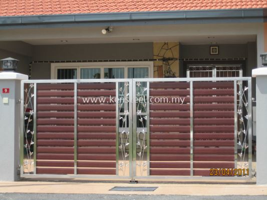 wood colour main gate53