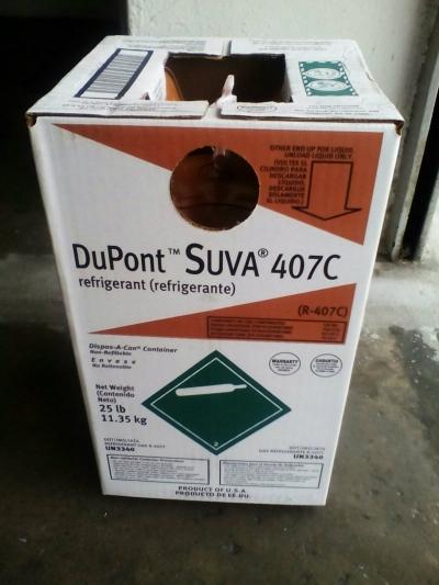 SUVA 407C (DuPont) Refrigerant Gas (11.35kg) (USA)