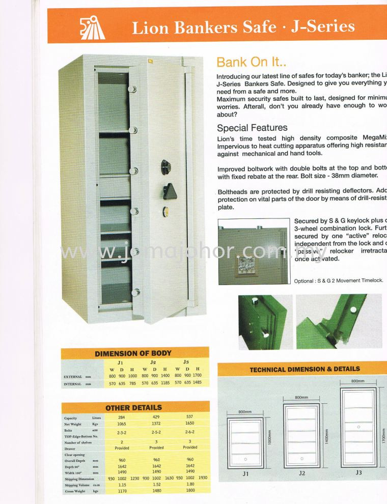 LION SAFE J SERIES Lion Safety Box