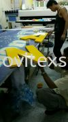 PVC board 3D out lettering after spray  painting  n touchup  Production