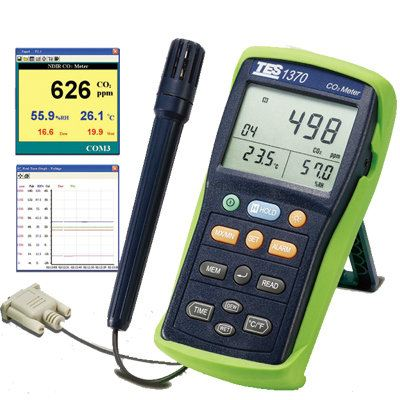 NDIR CO2 Meters-1370 Gas Detector Climatic / Environment Inspection