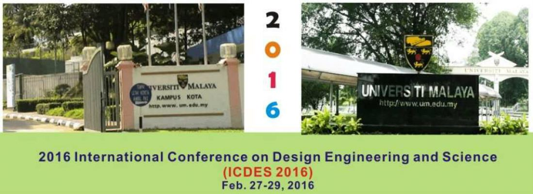2016 International Conference on Design Engineering and Science (ICDES 2016)