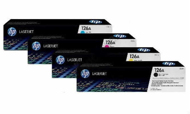 HP 126A CMYK SET LASERJET TONER CARTRIDGE (CE310A, CE311A, CE312A, CE313A)