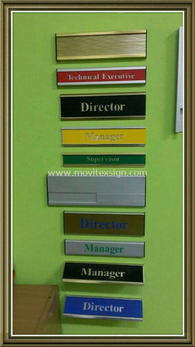 Aluminium door sign all type of Material Slot Material /Slot in /table signage