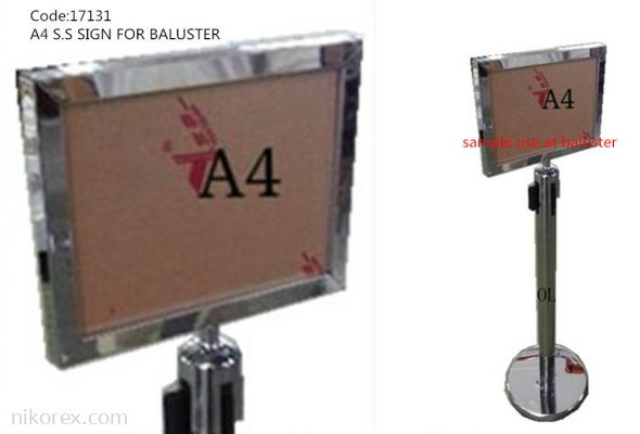 17131-A4 S.S SIGN FOR BALUSTER
