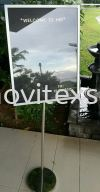 visitos Welcome board / Exchange board /interchangeable signboard  Metal Products Hotel Equipment