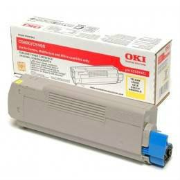 OKI C5550 C5800 YELLOW TONER CARTRIDGE (43324425)