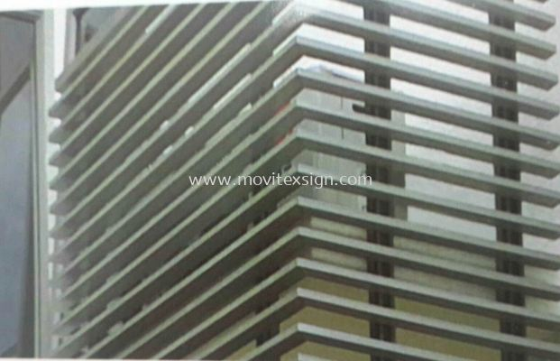 building Aluminium louvres /Architecture sign profle (click for more detail)