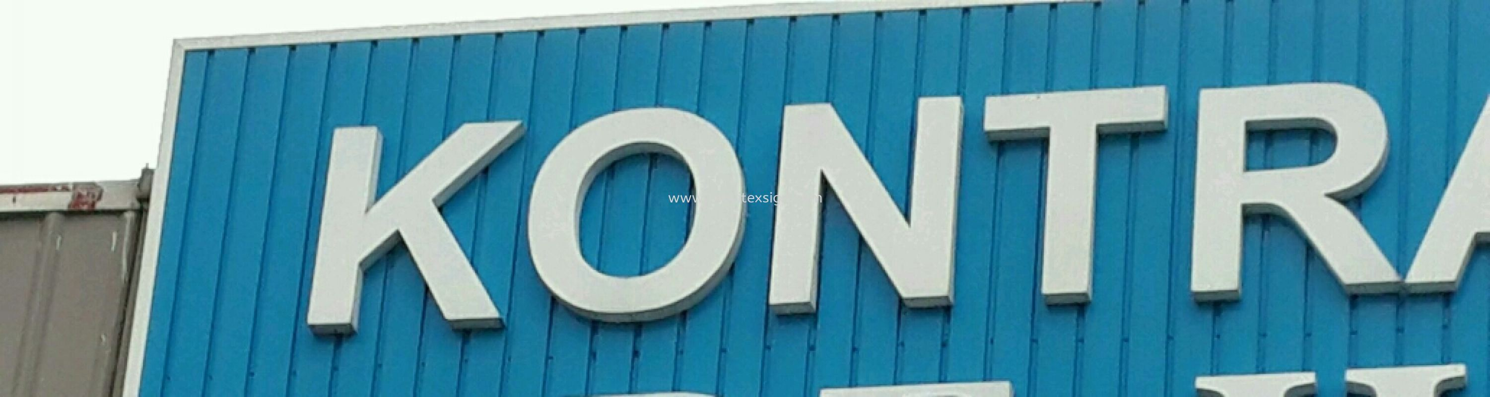 Metal Strip pannel board n 3D Letters  Material Johor Bahru (JB), Johor, Malaysia. Design, Supplier, Manufacturers, Suppliers | M-Movitexsign Advertising Art & Print Sdn Bhd