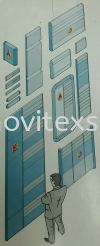 Aluminium profile systems for building directory or door sign  Material