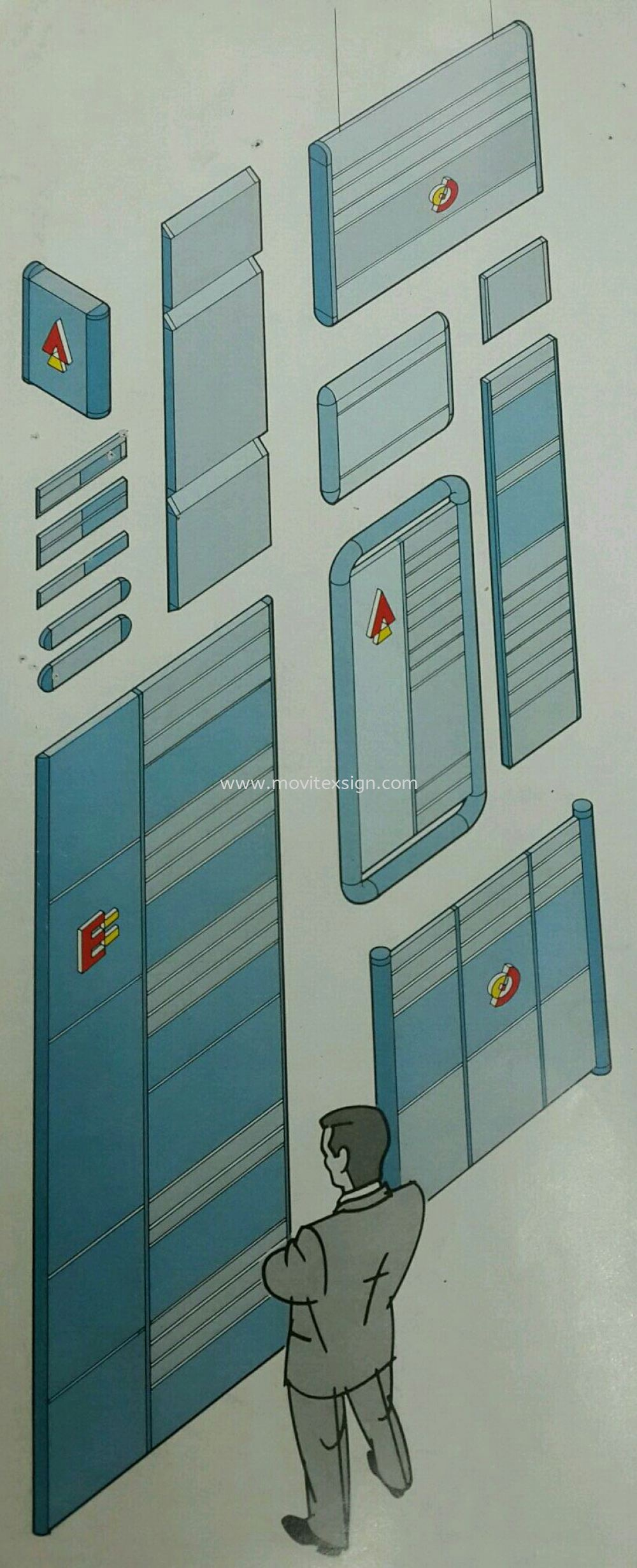 Aluminium profile systems for building directory or door sign  Material Johor Bahru (JB), Johor, Malaysia. Design, Supplier, Manufacturers, Suppliers | M-Movitexsign Advertising Art & Print Sdn Bhd