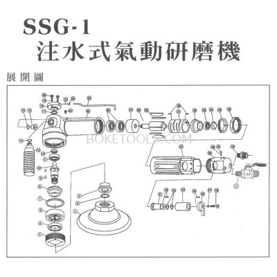 PART LIST FOR AIR TOOLS SSG-1
