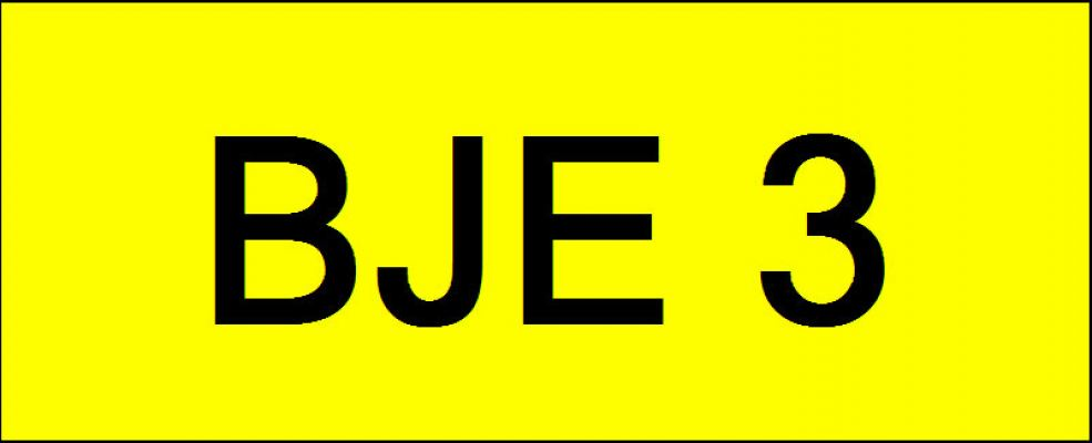 Number Plate BJE3