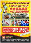 cleaning  n repair  signboard /LED /Neon n Desmentel sign services n contracts  Installation / Dismantle and Washing Services