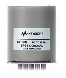87106Q Low PIM Coaxial Switch, DC to 20 GHz, SP6T  RF and Microwave Electromechanical Switches  Keysight Technologies