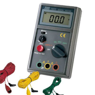 Digital Earth Tester TES-1605 Earth-Ground Tester Electrical Inspection