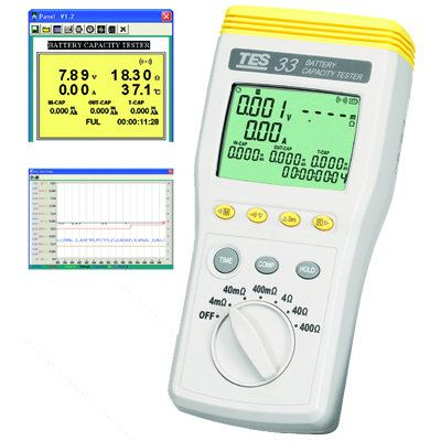Battery Capacity Tester (USB)  TES-33 Battery Impedance Electrical Inspection