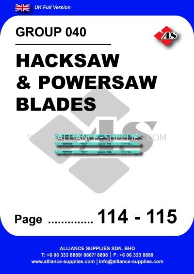 040 - Hacksaw & Powersaw Blades