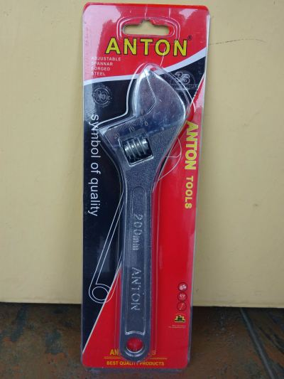 "ANTON 8"" ADJUSTABLE SPANNER (6 PCS/BOX)"