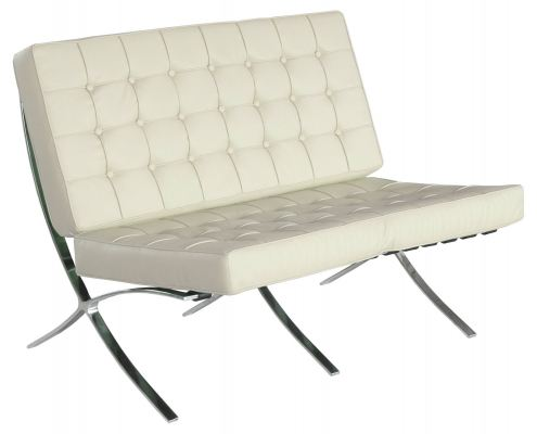 Barcelona Double-Seater (White)