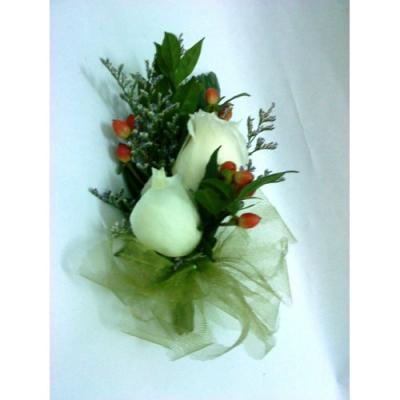 White Rose Corsage (CC-001)