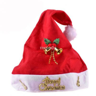 Christmas Santa Hat \ Bells and Violin \ Adult 56cm - 2051 0204 02