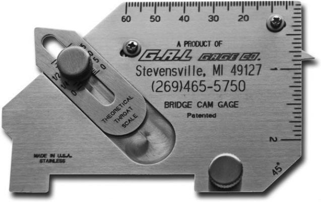 G.A.L gage - Bridge Cam Gauge Cat # 4