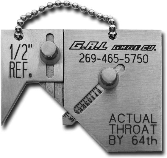 G.A.L gage - Mini Sub Socket Weld Gauge Cat # 14 Welding Gauges Portable Inspection Gauges