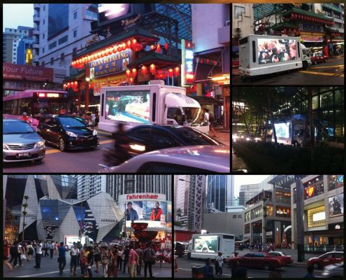 Truck with Double Sided LED Screen