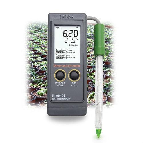 Direct Soil pH Meter HI99121 pH Water / Liquid Analysis