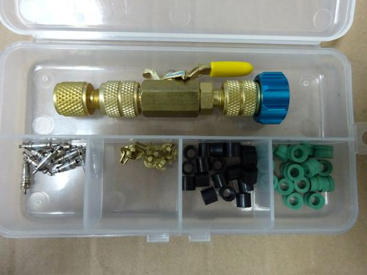 SHINEYEAR CH-19BVKIT VALVE CORE INSTALLER / REMOVER KIT USED ON ACCESS VALVE / CHARGING LINE