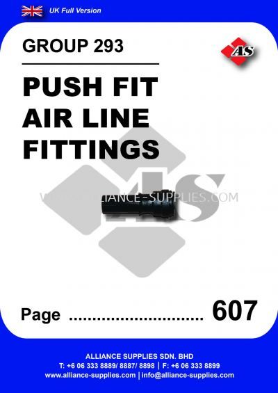 293 - Push Fit Air Line Fittings