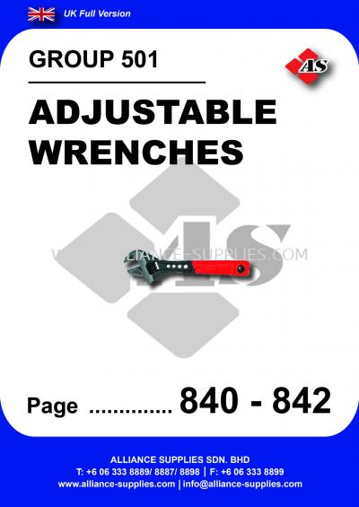 501 - Adjustable Wrenches