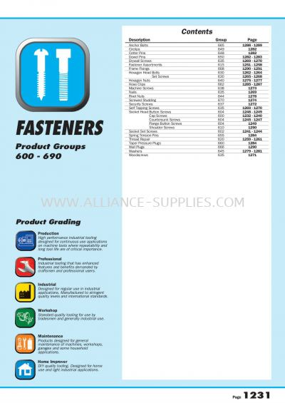 09.07.1 Fasteners