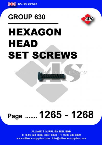 630 - Hexagon Head Set Screws