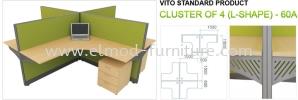 60a Vito Standard Open Plan Workstation Office System